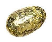 Praline Filled Egg (Marbled Chocolate) Gold Foil
