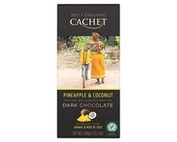 Cachet Organic Dar Chocolate with Pineapple and Coconut