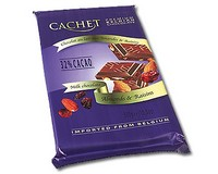 Cachet Milk Chocolate with Almonds and Raisins 300g