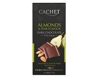 Cachet Almonds & Pear 57% Dark Chocolate 100g