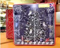 Embossed Decorated Christmas Tree Tin of All Butter Shortbread