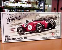 Classic Wheels Begian Milk Chocolate 400g