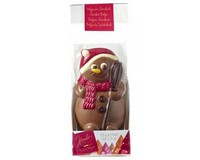 Decorated Chocolate Snowman Figure