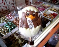 Belfine Milk Chocolate Chick Lollipop (Samantha) 35g