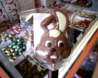 Belfine Milk Chocolate Bunny Lollipop (Binky) 35g