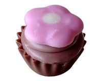 Cupcake Flowerpot (Chocolate Mousse) Pink Flower