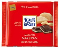 Ritter Sport Dark with Marzipan 100g