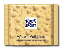 Ritter Sport White with Hazelnuts 100g