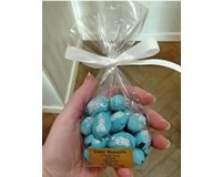 Solid Chocolate Eggs (Blue Foil) 100g