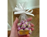 Solid Chocolate Eggs (Pink Foil) 100g