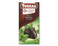 Torras Dark Chocolate with Mint (Sugar Free) 75g