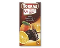 Torras Dark Chocolate with Orange (Sugar Free) 75g