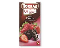 Torras Dark Chocolate with Strawberry (Sugar Free) 75g