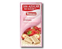 Torras White Chocolate with Strawberry Bar (Sugar Free) 75g