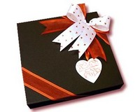 Square Black Chocolate Box (25 Assorted Chocolates)