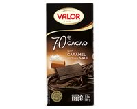 Valor 70% Dark chocolate with Caramel and sea Salt 100g