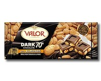Valor 70% Dark Chocolate with Almonds 100g