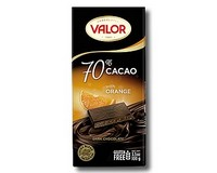 Valor 70% Dark chocolate with Orange 100g