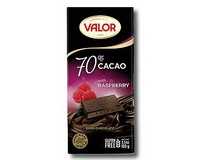 Valor 70% Dark Chocolate with Raspberry 100g