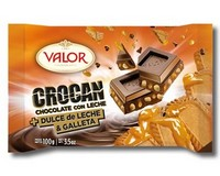 Valor Milk Chocolate with Caramel Biscuit 100g