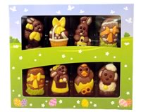 Weibler Easter Reliefs decorated figures (milk chocolate)