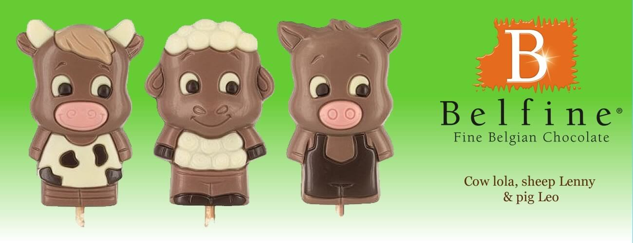 Belfine Belgian Chocolate Farm Figures