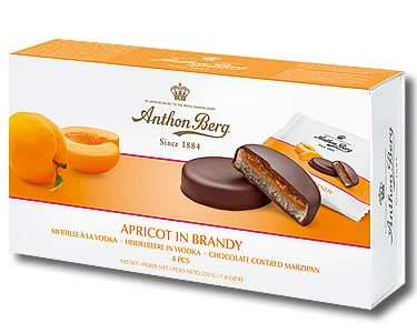 Anthon Berg Apricot in Brandy 220g - Click Image to Close