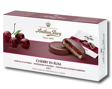 Anthon Berg Cherry in Rum 220g - Click Image to Close
