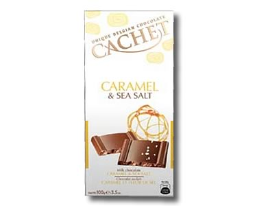 Cachet Caramel and Fleur de Sel Milk Chocolate 100g - Click Image to Close