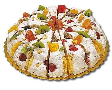 Quaranta soft Italian Nougat (Exotic Fruits) 190g/Slice - Click Image to Close