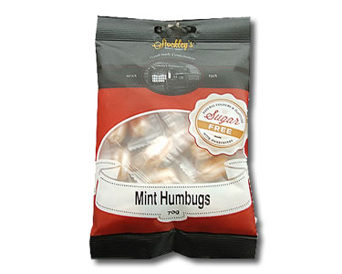 Mint Humbugs (Sugar Free) 70g - Click Image to Close