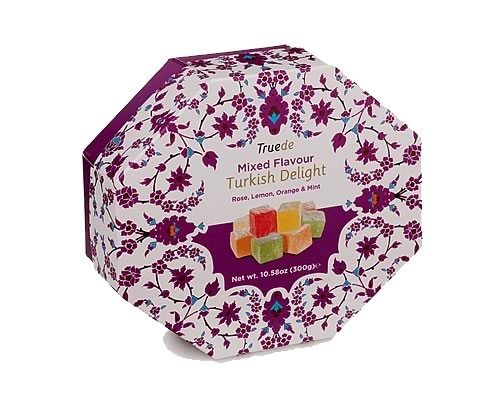 Truede Mixed Flavours Turkish Delight 300g - Click Image to Close