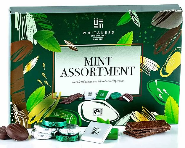 Whitakers Mint Chocolate Assortment 225g - Click Image to Close