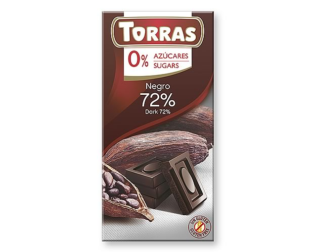 Torras Dark Chocolate 72% (Sugar Free) 75g - Click Image to Close