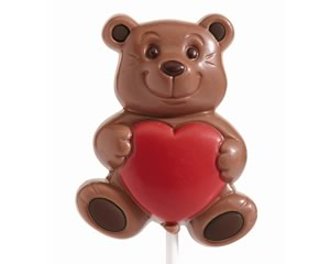 Belfine Romeo Bear Chocolate Lolly
