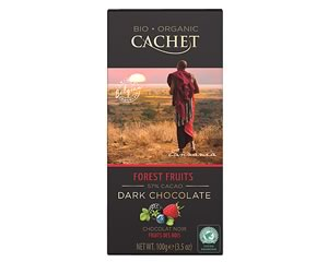 Cachet Organic Dark Chocolate with Forest Fruits