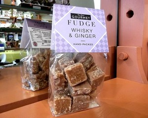Gourmet Whisky and Ginger Fudge 150g