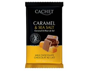 Cachet Milk Chocolate with Salted Caramel 300g
