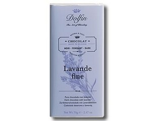 Dolfin Dark chocolate with Fine Lavender (70g)