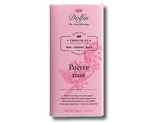Dolfin Dark chocolate with Pink Peppercorns (70g)