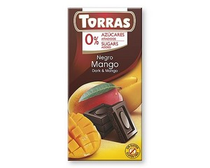Torras Dark Chocolate with Mango (Sugar Free) 75g