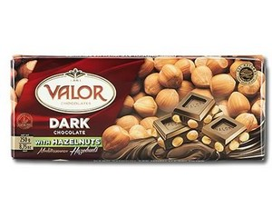 Valor Dark Chocolate with Hazelnuts 250g