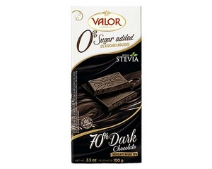Valor (Sugar Free) Dark Chocolate 70% 100g