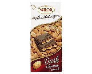 Valor (Sugar Free) Dark Chocolate with Almonds bar 150g