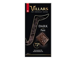 Villars 72% Dark Chocolate Bar 100g