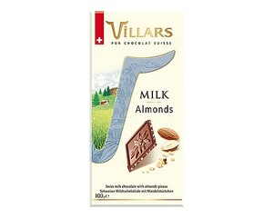 Villars Almond Milk Chocolate Bar 100g