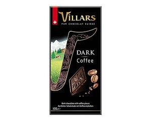 Villars Coffee Dark Chocolate Bar 100g