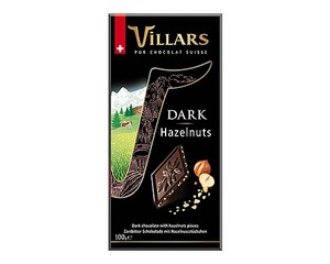 Villars Hazelnuts Dark Chocolate Bar 100g