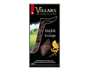 Villars Orange Dark Chocolate Bar 100g