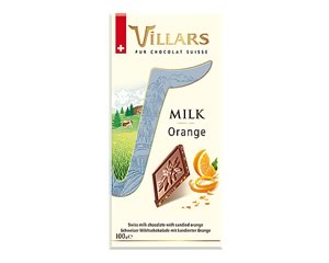 Villars Orange Milk Chocolate Bar 100g